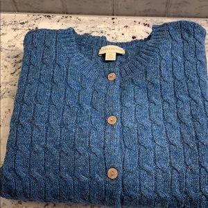 Shetland Wool Cardigan Size XL EUC